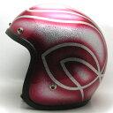 【在庫有 即納】【送料無料】GEOMETRIC RED 59cm ビンテージスモールジェットヘルメットオープンフェイスbellベルbucoブコshmタチバナ立花