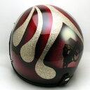 【在庫有 即納】【送料無料】BIKE GOLD × RED 58cm ビンテージスモールジェットヘルメットオープンフェイスbellベルbucoブコshmタチバナ立花
