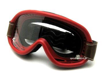 baruffaldi SPEED 4 GOGGLE(バルファルディスピード4ゴーグル)RED レッド赤色オフロードオフ車ヘルメットフルフェイス半ヘルレトロクラシカルダートラvmxビンテージモトクロスダートレースバイクレース