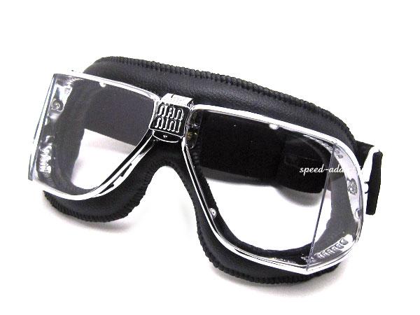 nannini Custom GOGGLE(ナンニーニカスタムゴーグル)BLACK/CHROME × ANTI FOG CLEAR 四眼式4眼式biker shadeバイカーシェードメガネ眼鏡サングラストライアンフbsanortonノートンbmwducatiドゥカティMV agustaアグスタukオープンカー画像