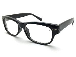 60's OLD SQUARE WELLINGTON SUNGLASS(60sオールドスクエアウェリントンサングラス)BLACK × CLEAR 黒縁くろぶちめがねセルフレームクリアレンズ透明だて眼鏡伊達メガネアイウェア男女兼用メンズレディーススクエアuvカットクラシック