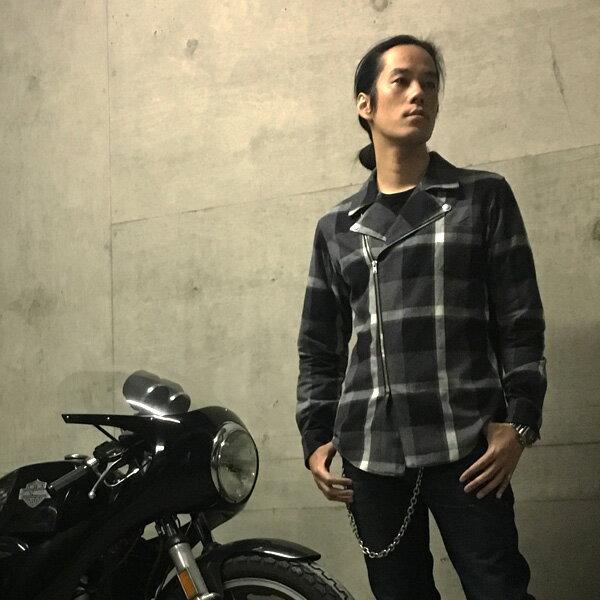 メンズファッション, コート・ジャケット RIDERS FLANNEL SHIRTGRAY CHECK w riders jacketsjktschottvansonlewis leathersaero leather