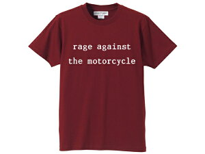 rage against the motorcycle T-shirt(レイジアゲインストザモーターサイクルTシャツ)BURGUNDY rage against the machineレイジアゲインストザマシーンバンドtee夏フェスロックフェスEvil EmpireThe Battle of Los AngelesRenegades90s