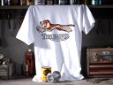 【在庫有 即納】【10,000円(税別)以上お買上で送料無料】TRIUMPH TIGER T-shirt(トライアンフタイガーTシャツ)WHITE 6tサンダーバードtr5トロフィーtr6t120ボンネビルt140t110タイガーカブt100tr7デイトナスピードトリプルスプリントスラクストンスクランブラーロケット3