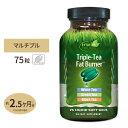 トリプルティーファットバーナー 75粒 リキッドソフトジェル Irwin (アーウィン)緑茶/中国茶/スポーツ/ダイエット