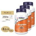 [3個セット]L-アルギニン 500mg 250粒 NOW Foods(ナウフーズ)