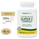 ビタミンC スーパーCコンプレックス(タイムリリース型) 180粒サプリメント サプリ ビタミンC アセロラ フラボノイド Nature's Plus ネイチャーズプラス