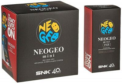 【新品】【即納】NEOGEO mini + NEOGEO mini PAD (黒) セット ネオジオミニ