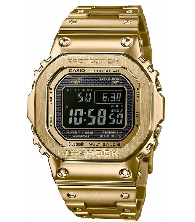 0356631d76 【新品】【即納】カシオ Gショック CASIO G-SHOCK タフソーラー 電波時計 デジタル 腕時計 メンズ GMW-B5000GD-9JF  ゴールド 2018 新作 新品 正規品