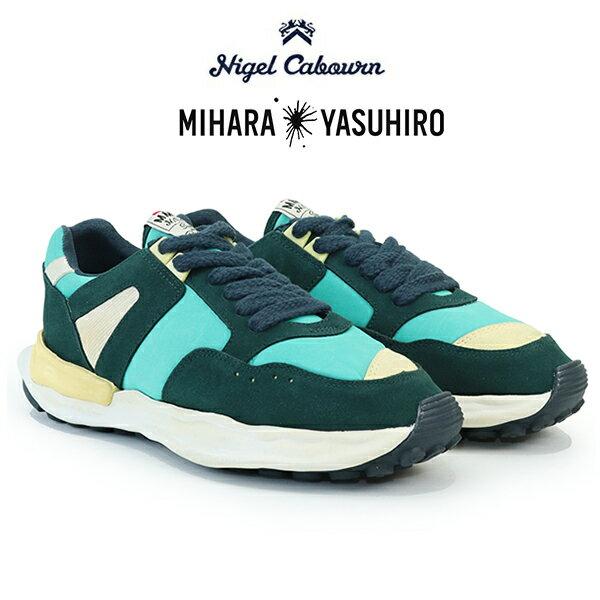 メンズ靴, スニーカー 2021SS MODEL NIGEL CABOURN MAISON MIHARA YASUHIRO RUNNING TRAINER SNEAKER GREEN ARMY MIX