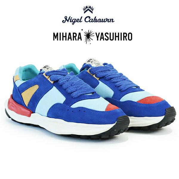 メンズ靴, スニーカー 2021SS MODEL NIGEL CABOURN MAISON MIHARA YASUHIRO RUNNING TRAINER SNEAKER SKY BLUE MIX