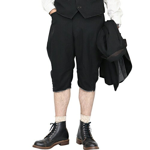 メンズファッション, ズボン・パンツ FREEWHEELERS POPE GREAT LAKES GMT.MFG.Co. 1910-1920s OUTDOOR STYLE THREE-QUARTER LENGTH TROUSERS BLACK