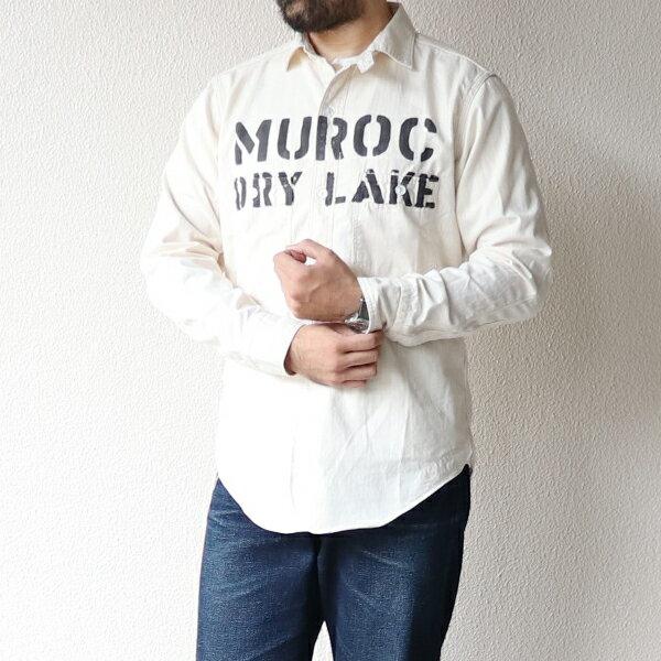 トップス, カジュアルシャツ FREEWHEELERS MUROC FRONTY RACER WORK SHIRT 1910 - 1920s STYLE WORK CLOTHING MINI HERRINGBONE TWILL NATURAL