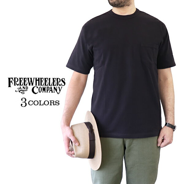 トップス, Tシャツ・カットソー FREEWHEELERS SET-IN SLEEVE POCKET T-SHIRT LIGHT WEIGHT KNIT 3 COLORS