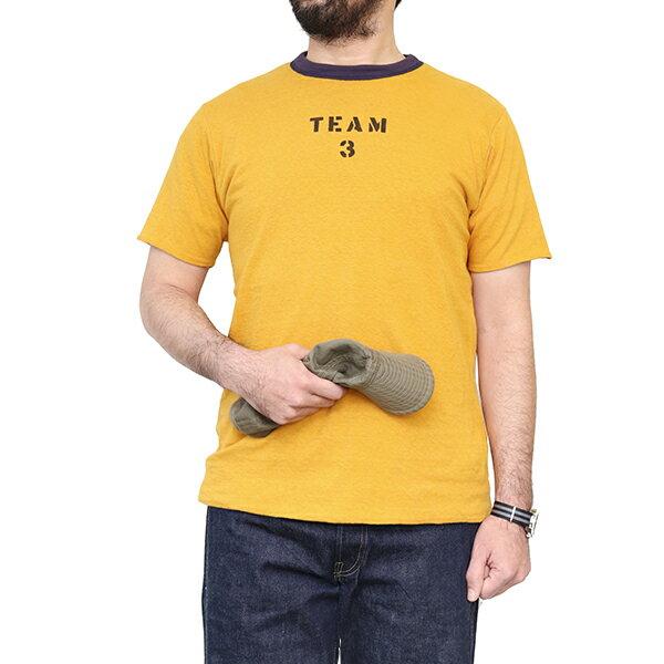 トップス, Tシャツ・カットソー FREEWHEELERS REVERSIBLE T-SHIRT TEAM 3 VINTAGE STYLE LIGHT WEIGHT JERSEY DARK GRAY NAVY GOLD DUST
