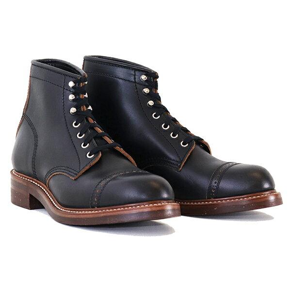 ブーツ, ワーク JOHN LOFGREN BOOTMAKER COMBAT BOOTS HORWEEN LEATHER CXL BLACK MADE IN JAPAN