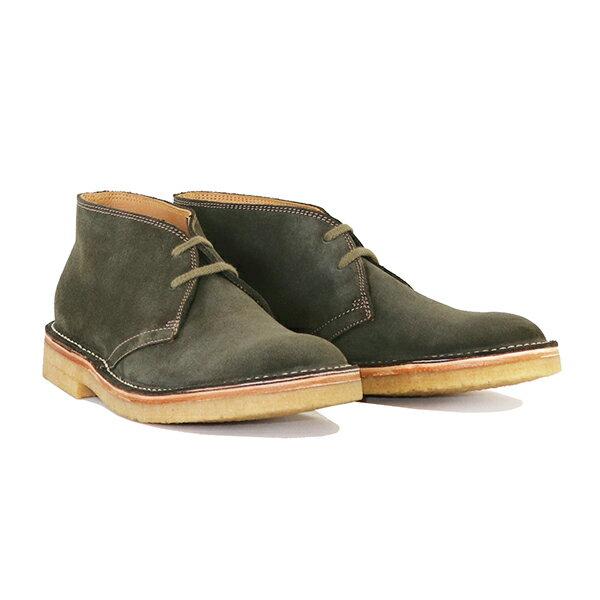 ブーツ, デザート JOHN LOFGREN BOOTMAKER MILITARY DESERT BOOTS OLIVE MADE IN JAPAN