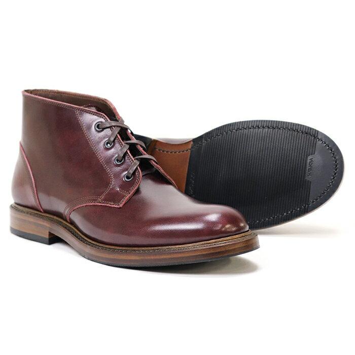ブーツ, チャッカ JOHN LOFGREN BOOTMAKER THE STEADFAST CHUKKA BOOTS BURGUNDY CALFSKIN MADE IN JAPAN