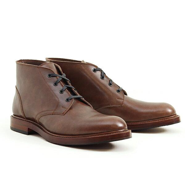 ブーツ, チャッカ JOHN LOFGREN BOOTMAKER THE STEADFAST CHUKKA BOOTS BROWN CALFSKIN MADE IN JAPAN