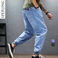 送料無料  ジョガーパンツ メンズ 大きいサイズ テーパード パンツ ツイル ズボン 品質 メンズ パンツ ファッション メンズ サルエルパンツ ロングパンツ ゆったりシルエット 無地 ズボン ハロンパンツ 男性 秋 秋物 秋パンツ デニムパンツ デニム