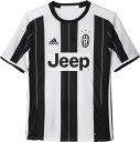 adidas(アディダス)サッカーゲームシャツ・パンツKIDS ユベントス ホーム レプリカ ユニフォームBFL07WHT/BLK