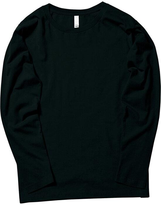 【ラッキーシール対象】 BONMAX(ボンマックス)カジュアルTシャツ【男女兼用 Tシャツ】 5.3オンスユーロロングTシャツMS1605ブラック