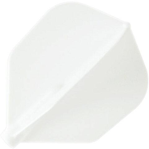 ノーブランドリクレションダーツ フライト【フィットフライト】シェイプ ホワイト 6枚入りFIF0201