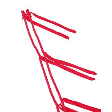 【ラッキーシール対象】ゼット体育器具学校体育器具運動会小物ムカデロープ 10人用ZU9410アカ
