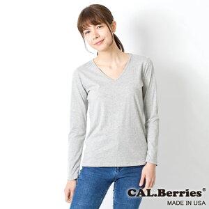 【カルベリーズ レディース】CAL.Berries カルベリーズ BERRY EASY LONG V WOMEN`S (3540j012) ALL Made in USA【メール便対応】