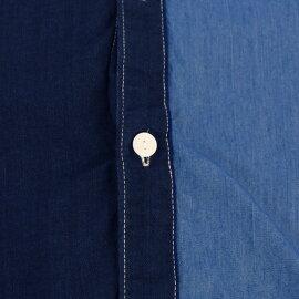 インディゴクレイジーシャツカジュアルシャツトップス半袖メンズファッションFIVEBROTHER(ファイブブラザー)(151721)【送料無料】