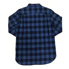 インディゴチェックシャツカジュアルシャツトップスメンズファッションFIVEBROTHER(ファイブブラザー)(151760)【送料無料】