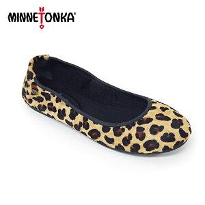 【2点以上で10%OFF】MINNETONKA ミネトンカ ANNA アナ バレエシューズ レオパード 257F 正規品 レディース 靴