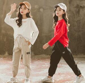キッズダンス ダンス衣装 ヒップホップ セットアップ 原宿系 パーカー パンツ 上下 男女兼用 ストリート系 韓国 子供服 ヒップホップ ジャージ 演出服 かっこいい ダンスウェア 男の子 女の子