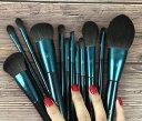 メイクブラシ 高級 コスメブラシ 化粧ブラシ メイク道具 12本セット 化粧筆 収納ポーチ付き フェイスブラシ 柔らかい 極細の人造繊維 旅行 自宅 プレゼント 贈り物