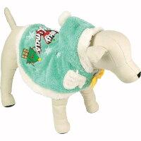 犬服コスプレ【ツリーポンチョ】中型犬小型犬いぬ犬服秋冬寒さ対策フリースジャンパージャケットコート暖かいあったかいかわいいクリスマスサンタサンタクロースコスチューム洋服2号3号4号[3240円以上送料無料][あす楽非対応][メール便OK]