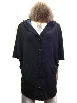 SPLASH FAST [スプラッシュファースト] in hooded poncho style knit Cardigan