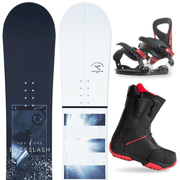 【スポイチ】【バイン取付無料】【デッキパッドプレゼント】スノーボード 3点セット 板 メンズ レディースBACKSLASH HARMAN 板 スノーボード スノボ スノボー グラトリ 3点snowboard ツヤ消し マットコーティング