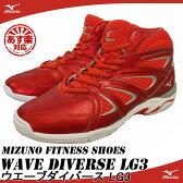 【SALE!】【あす楽】【送料無料】 MIZUNO ミズノ フィットネスシューズ WAVE DIVERSE LG3 ウエーブダイバース LG3 K1GF1671
