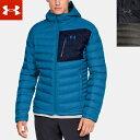 UNDER ARMOUR メンズ ダウン ジャケット ジップアップ 長袖 1315996 (防寒 フード はっ水 UAストーム) UNDERARMOUR UA Iso Down Hooded Men's Jacket
