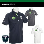 【ビートルズ来日50周年記念モデル】 アドミラル ゴルフ 半袖 ボタンダウン ポロシャツ ADMA 703(THE BEATLES / アップルコア ロゴ) ADMIRAL GOLF