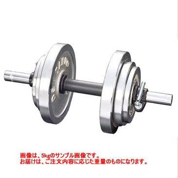 DANNO ダンノ クロームベル 30kg[穴径φ29mm] 片手分1個 D-754 クロームダンベル