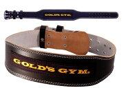ゴールド ブラックレザーベルト ウエイトトレーニングベルト