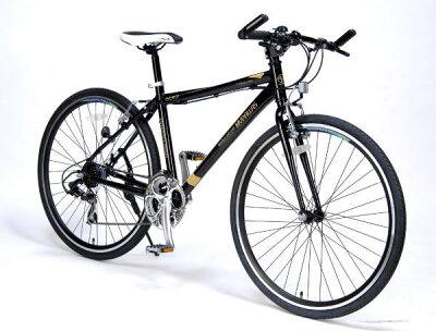 【送料無料】21段ギアマイパラス クロスバイク700C・21SP・アルミフレーム 自転車 M-971 ブラック