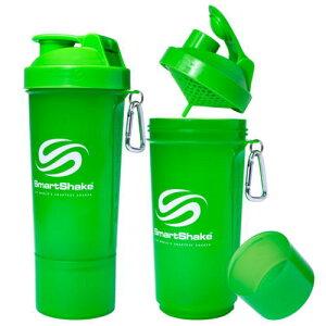 SmartShake Slim スマートシェイクスリム プロテインシェイカー 500ml ネオングリーン