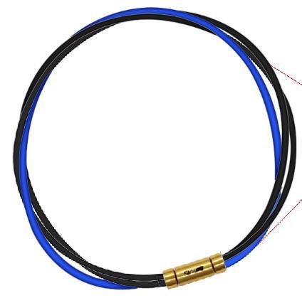 セブ SEV スポーツネックレス ルーパータイプ3G 納期2週間 54cm ブラック2本/ブルー