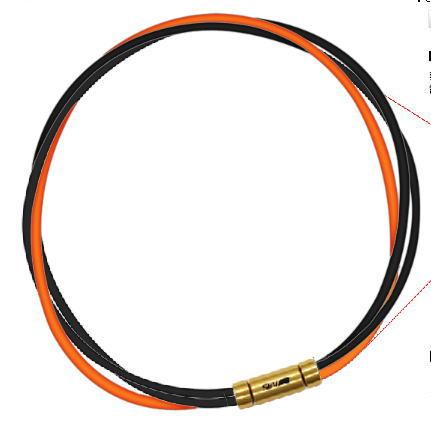 セブ SEV スポーツネックレス ルーパータイプ3G 納期2週間 54cm ブラック2本/オレンジ