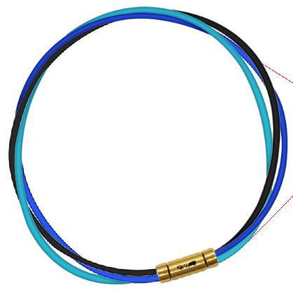 セブ SEV スポーツネックレス ルーパータイプ3G 納期2週間 54cm ブラック/ブルー/ライトブルー:スポーツダイアリー