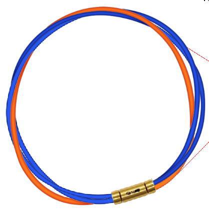 セブ SEV スポーツネックレス ルーパータイプ3G 納期2週間 54cm ブルー2本/オレンジ