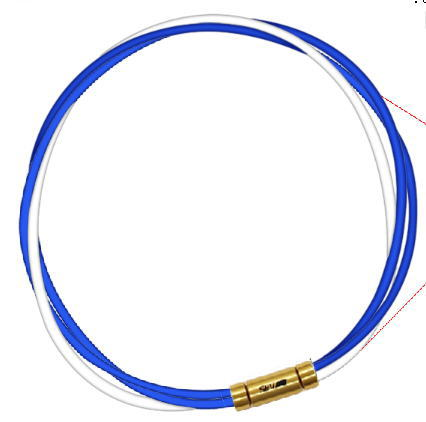 セブ SEV スポーツネックレス ルーパータイプ3G 納期2週間 54cm ブルー2本/ホワイト