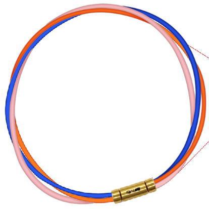 セブ SEV スポーツネックレス ルーパータイプ3G 納期2週間 54cm ブルー/オレンジ/ピンク